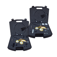 Minimess gas charging valves